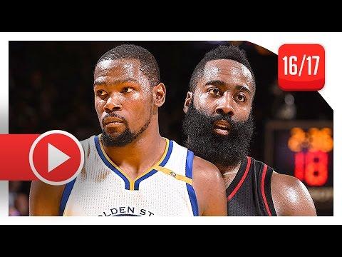 James Harden vs Kevin Durant SICK Battle Highlights (2016.12.01) Warriors vs Rockets - MUST SEE!