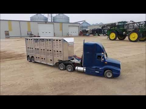 Miniature semi truck and cattle pot trailer for sale | no-reserve auction February 13, 2018