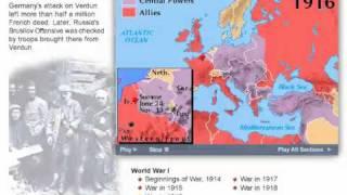WW1 Battles Timeline, World War 1 1914-1918
