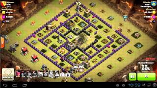 TH9 vs TH9 gowipe attack for 3 stars | clan wars | clash of clans