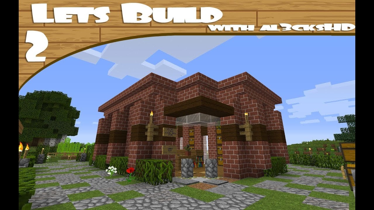 lets build minecraft spawn shop design idea youtube - Minecraft Design Ideas