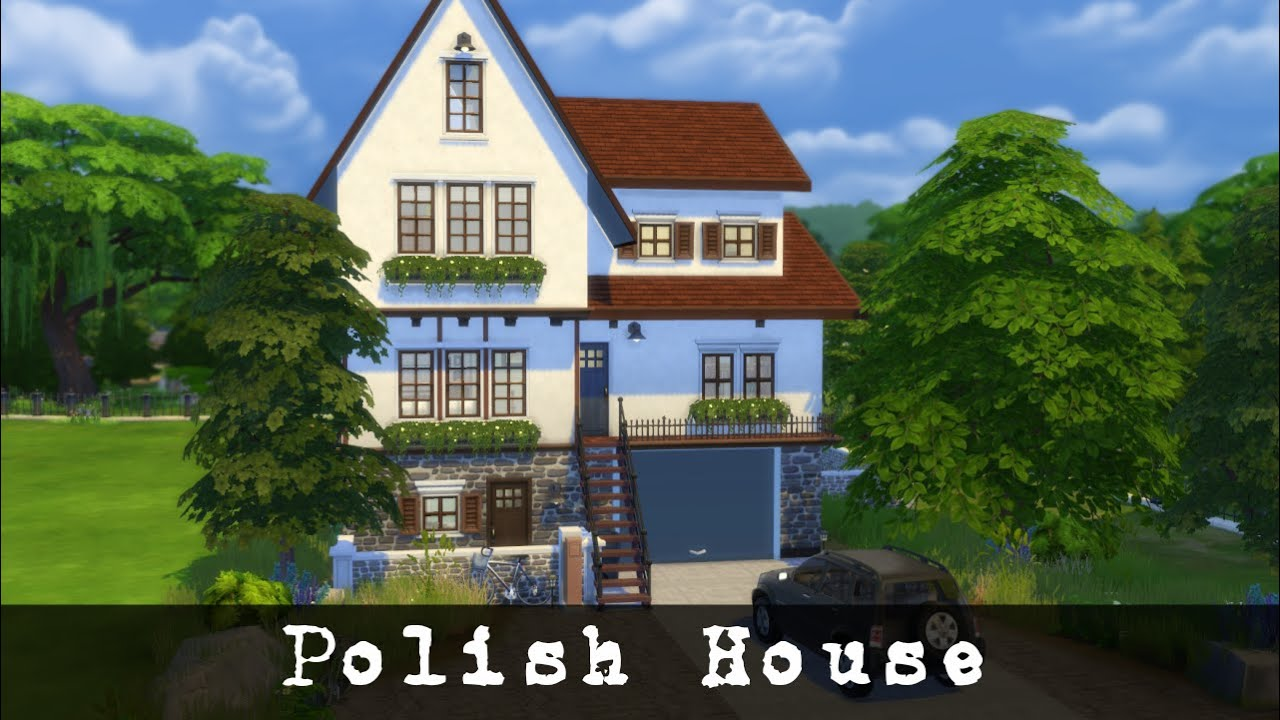 The Sims 4 House Build Polish House Youtube
