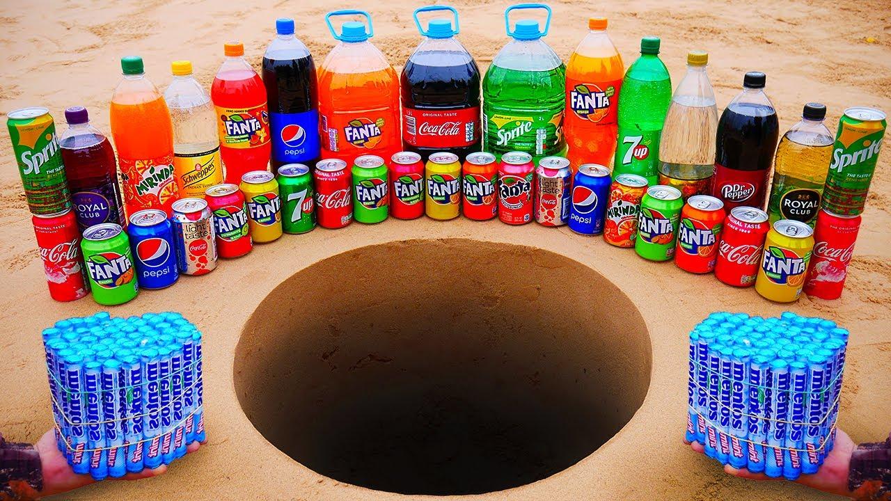 Download Fanta, Coca Cola, Sprite, Pepsi, Mirinda, Schweppes and Many Other Sodas vs Mentos Underground