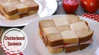 Checkerboard Sandwiches - Party Food