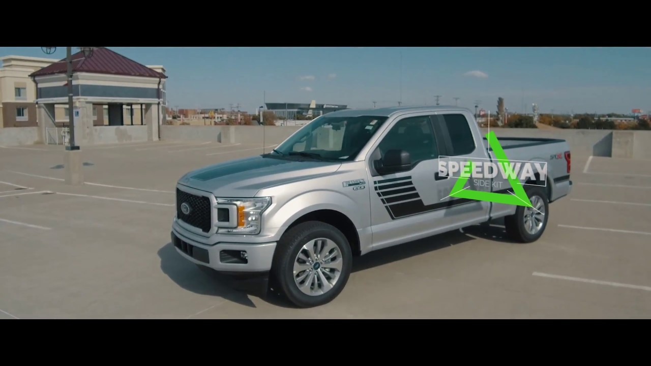 2017 2018 Ford F150 Stripes SPEEDWAY Vinyl Graphic Kits - YouTube
