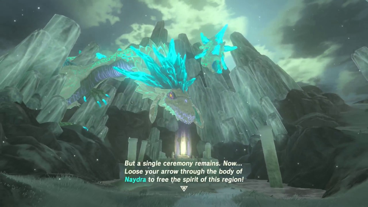 BotW  Freeing Naydra at the Spring of Wisdom Jitan Sami Shrine  YouTube