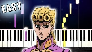 Giorno's Theme - Best Part - EASY Piano Tutorial by PlutaX