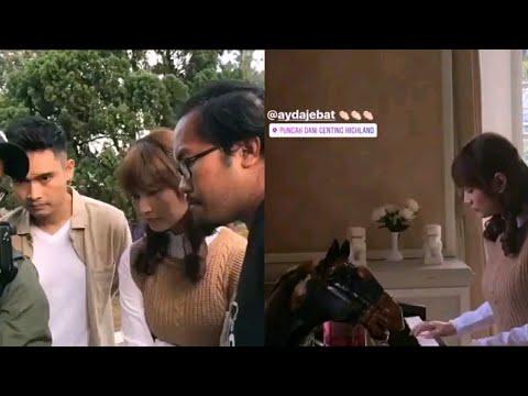 Ayda Jebat shooting video klip OST Pinjamkan Hatiku