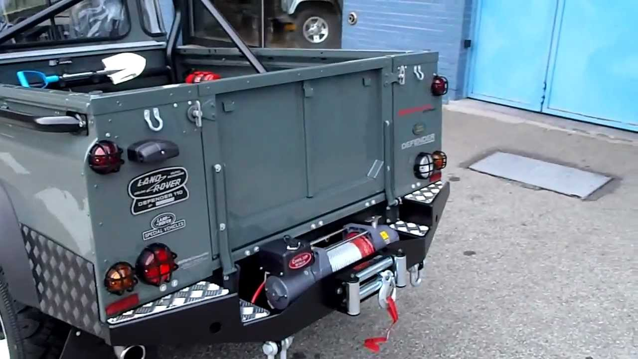 22f3215fdd LAND ROVER DEFENDER 110 TD4 PICK UP LIMITED EDITION ROUGH 2 - YouTube
