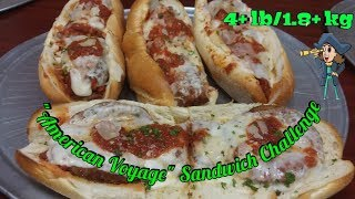American Voyage l 4 Sandwich Food Challenge l America's Pie