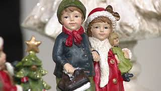 S/3 Vintage Children Figurines with Trees by Valerie on QVC