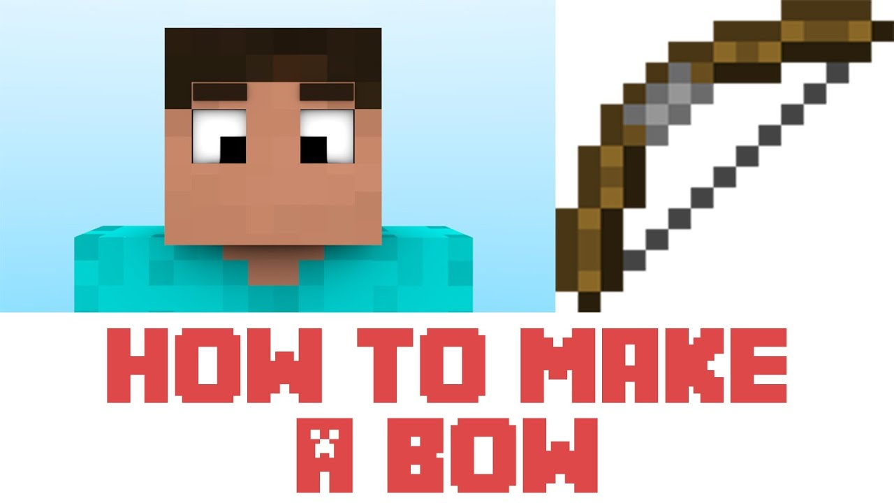 Minecraft Tutorial - How To Make A Bow In Minecraft - YouTube