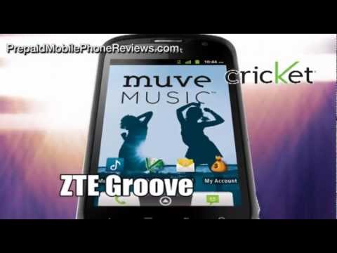 Cricket launches ZTE Groove, Muve Music entry-level smartphone