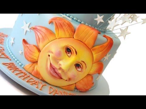 Star Moon And Sun 1st Birthday Cake Youtube