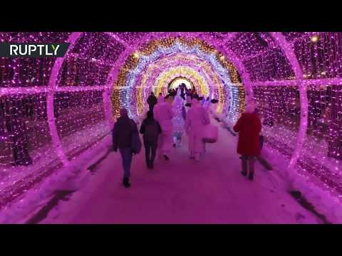 Feel the holiday spirit! Drone captures Moscow New Year's decorations