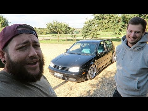 Driving A Stanced MK4 Golf GTI To The Pub