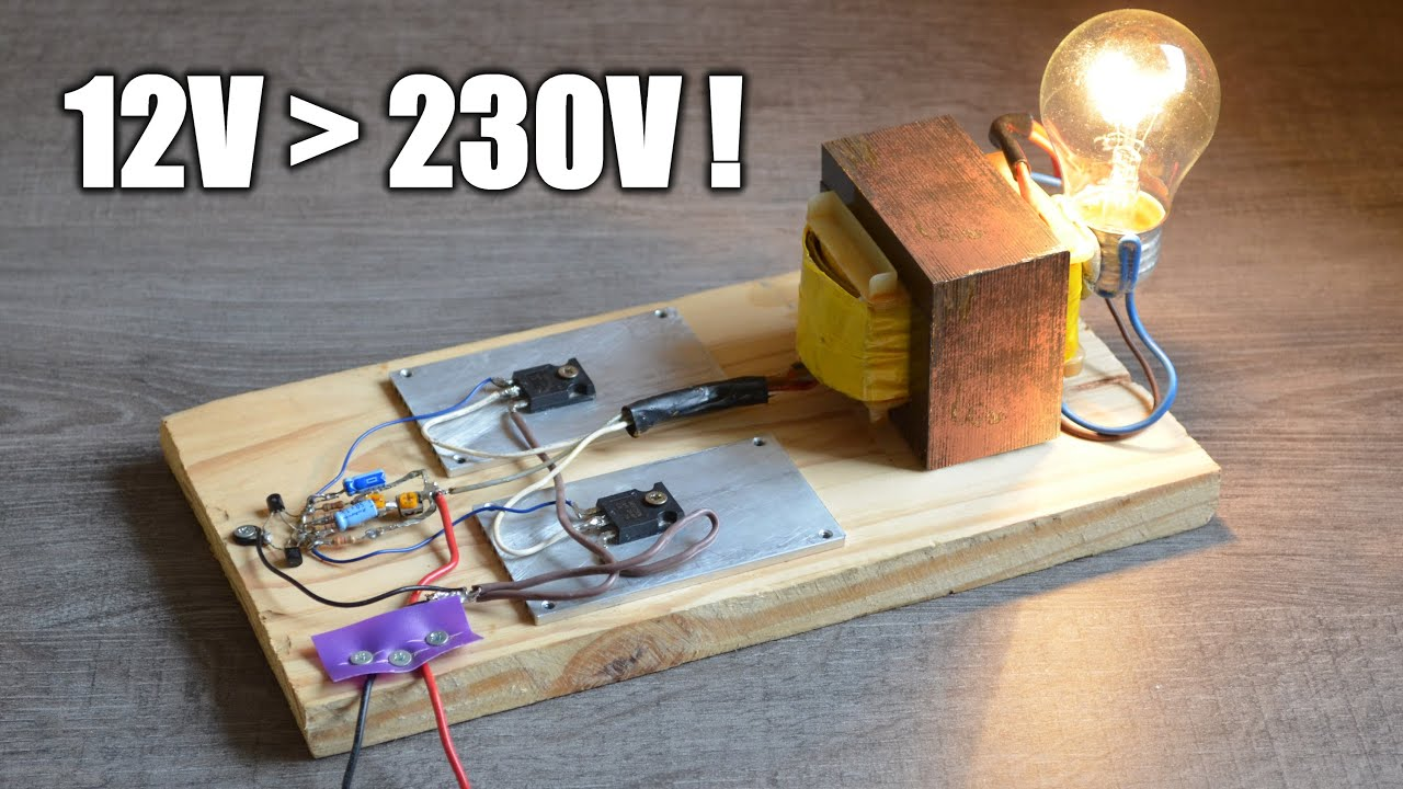 Fabriquer Un Onduleur Make An Inverter Youtube