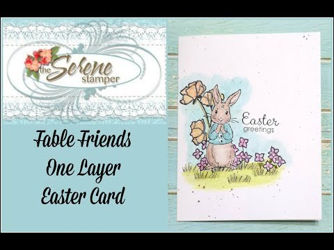 Fable Friends One Layer Easter Card