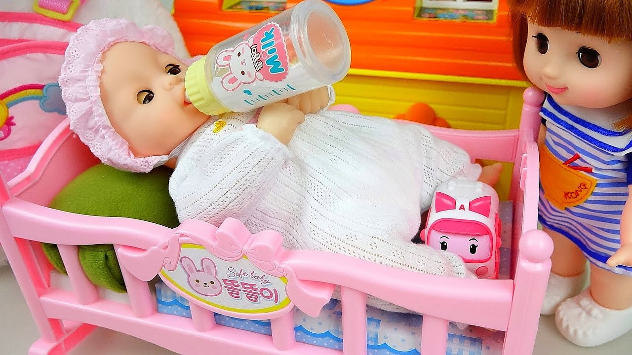 Sleeping Baby Doll In Bed Toys Toypudding Youtube