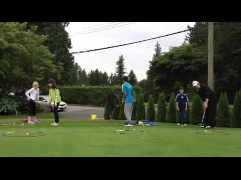 Junior Golf Relay Race with James Presnail