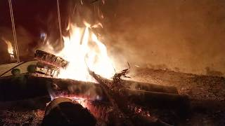 40 minutes 1080P video -  Burning firewood in rural homes | White noise Relaxed Video