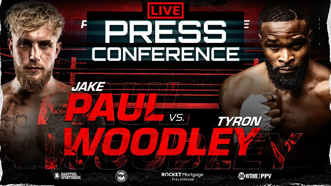Jake Paul vs Tyron Woodley OFFICIAL PRESS CONFERENCE & FACE-OFF