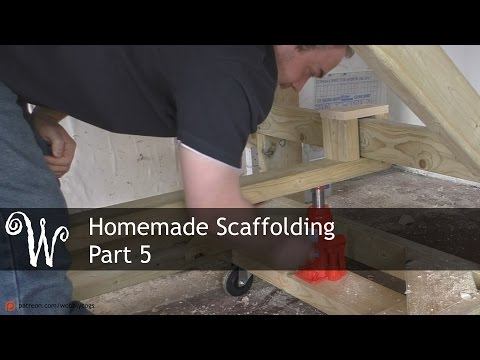 Homemade Scaffolding Tower - Part 5