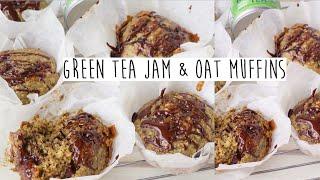 MATCHA GREEN TEA JAM & OAT MUFFINS | VEGAN RECIPES