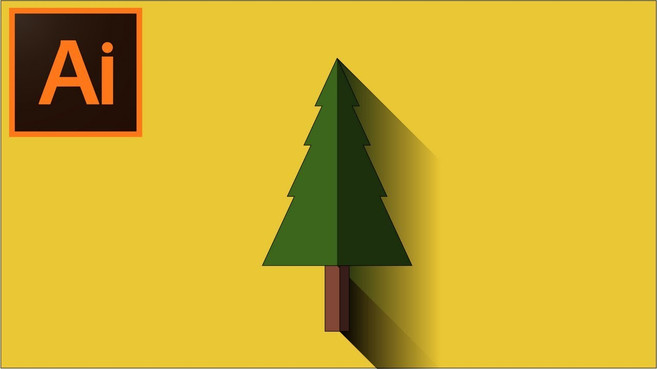 how to make a tree in illustrator youtube
