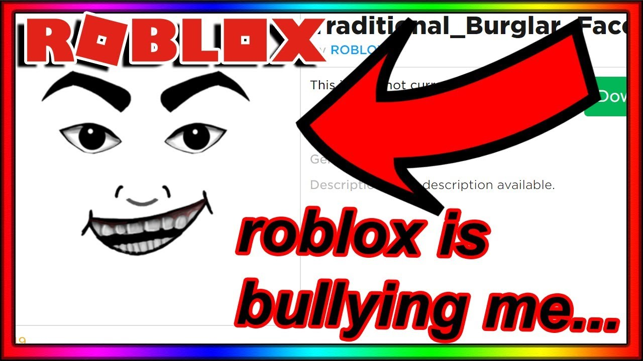 i asked roblox to stop making bad faces   then THIS was made