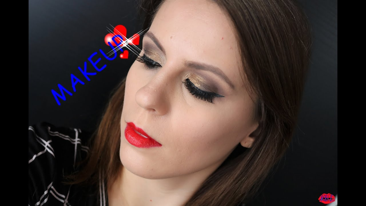 Makijaż Wieczorowy Ze Złotym Brokatem Youtube