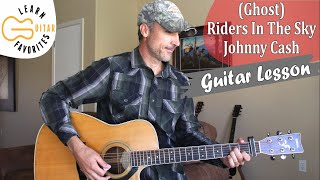 (Ghost) Riders In The Sky - Johnny Cash | Guitar Tutorial