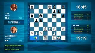 Chess Game Analysis: Alexita0731 - Yeii : 1-0 (By ChessFriends.com)