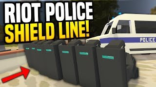 RIOT POLICE - Unturned Riot RP | Hold The Line!