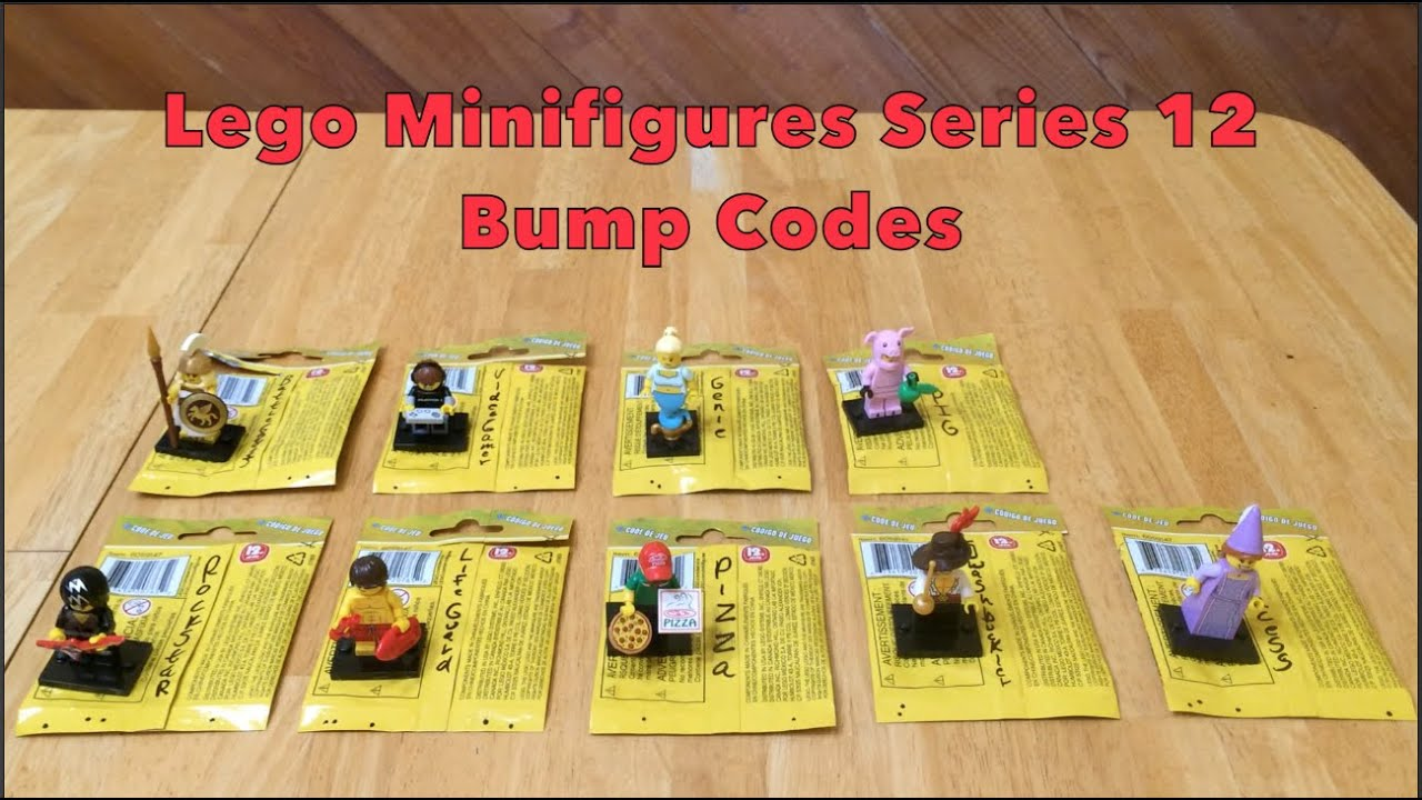 lego minifigures series 12 bump codes youtube. Black Bedroom Furniture Sets. Home Design Ideas