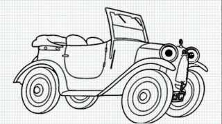Brum - How to Draw Brum the car from Brum cartoon Series - Video - Easy Drawing for Kids