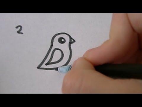 3 Manieren Om Een Cartoon Vogel Te Tekenen Deel 2 Simpel Bird