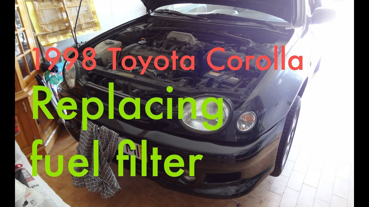 step by step replacing fuel filter on a 1997 1999 toyota corollastep by step replacing fuel [ 1280 x 720 Pixel ]