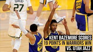 Kent Bazemore on his 19 point game in Warriors win vs. Utah Jazz