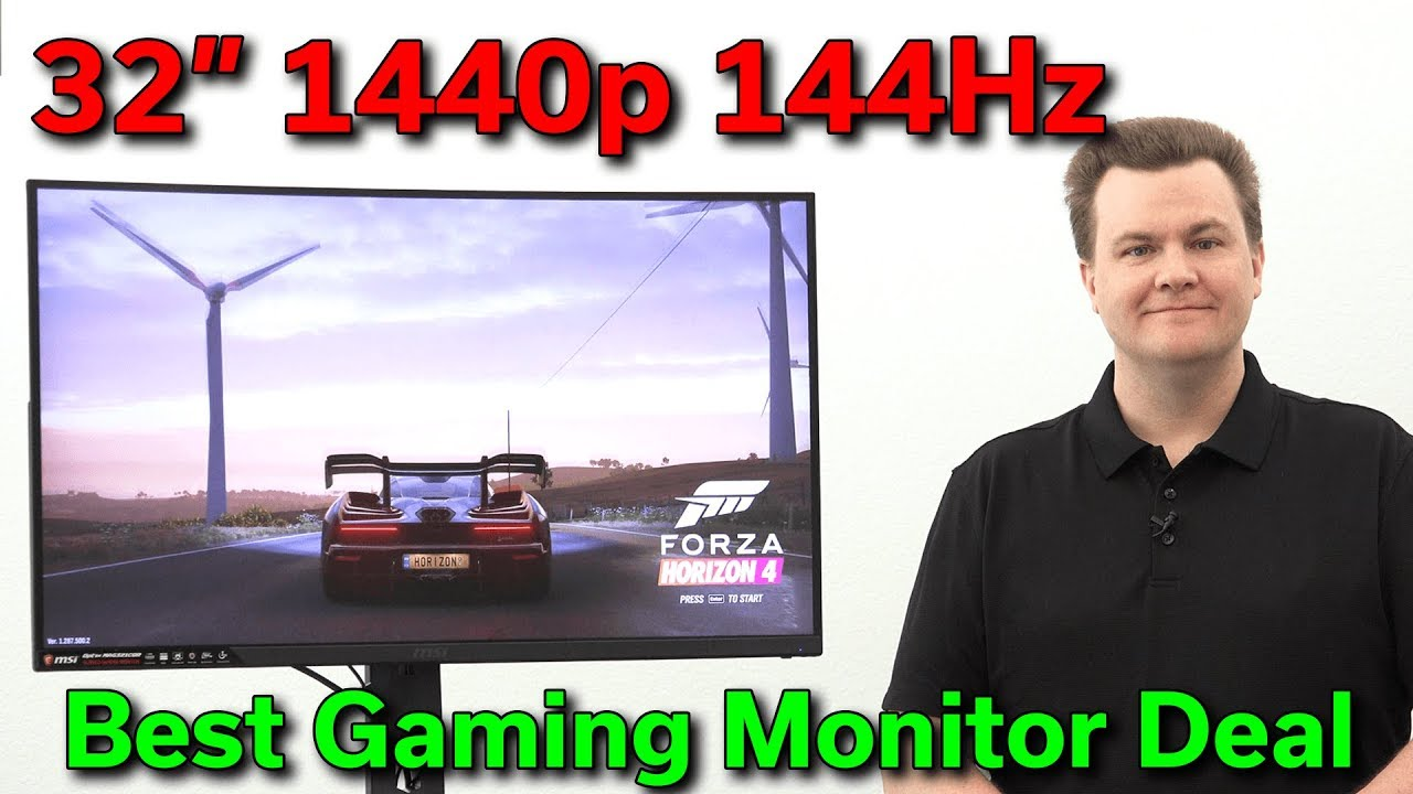 "1440P 144Hz Monitor $400 - 32"" msi 1440p 144hz - 1ms curved - epic gaming monitor review"