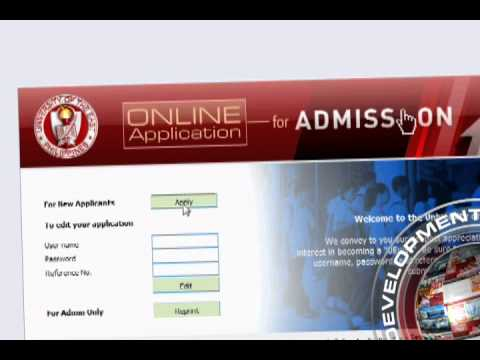 UE online application admission