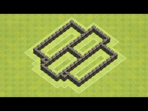 Clash of Clans Town Hall 4 Defense BEST CoC TH4 Farming Base Layout Defense Strategy