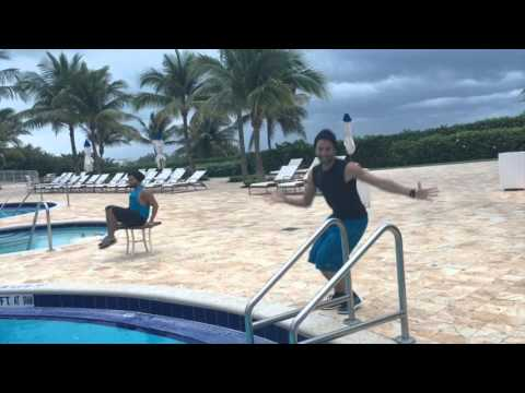 Aqua Zumba Routine to Lamento Boliviano (Merengue Version)