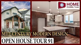 Open House Tour 91 - Mid-Century Modern Design Home at Stafford Place in Warrenville by Airhart