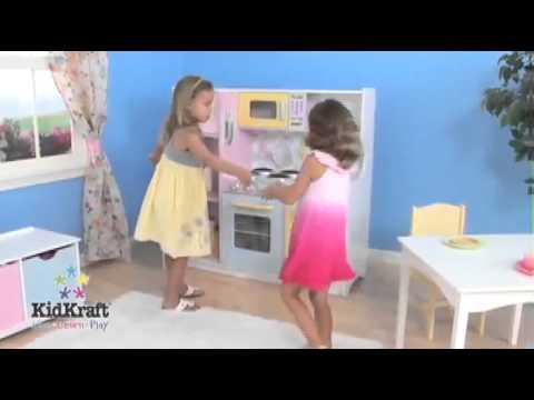Houten speelgoed keukentje - pastel - Speelgoedacties.nl - Houten ...