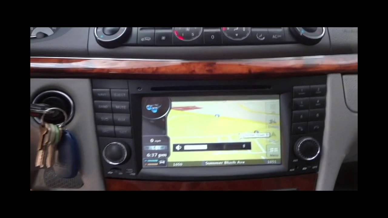 maxresdefault mercedes e class w211 stereo upgrade youtube 2001 mercedes e55 radio wiring diagram at n-0.co