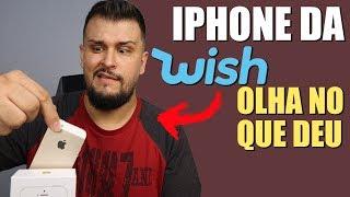 Comprei um iPhone na Wish e OLHA NO QUE DEU