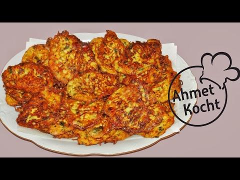 Rezept: Mücver | Zucchinipuffer | AhmetKocht | vegetarisch kochen | Folge 106