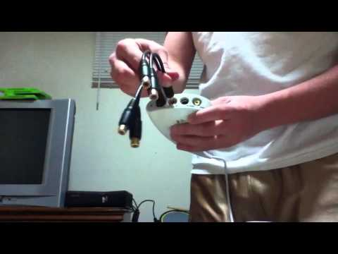 How to set up an s-video cable to an Xbox 360