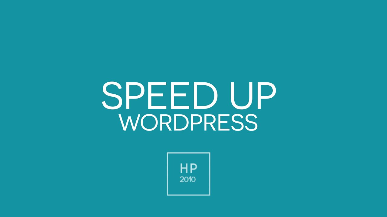 How To Speed Up Your Website - WordPress - YouTube